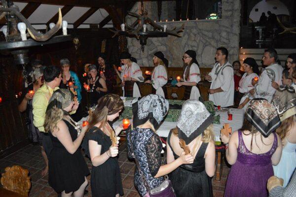 Ritual Killling of a Livind dead in Vampire in Transylvania -the awarded Dracula tour -Romania Vampire tour