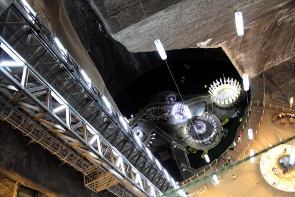 Turda spectacular Salt Mine-seen in this Dracula tour from Bucharest