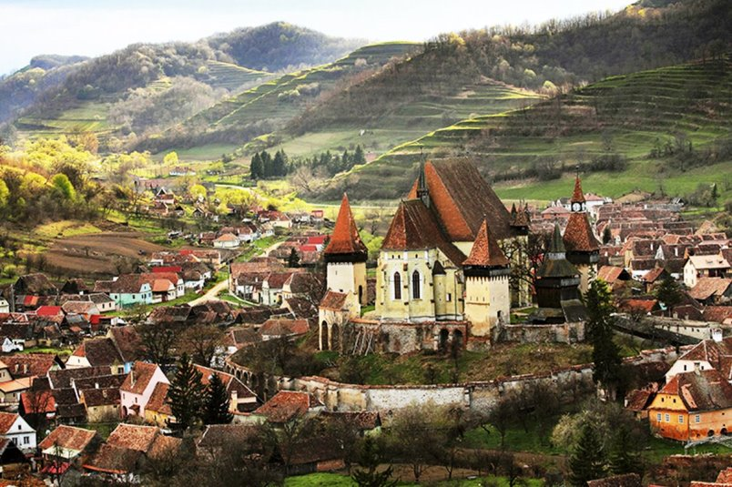 Biertan fortified church seen in the best private Transylvania Vampire Tour
