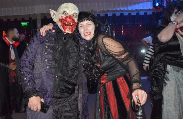 British tourists at the best Bran Castle Halloween party in Transylvania