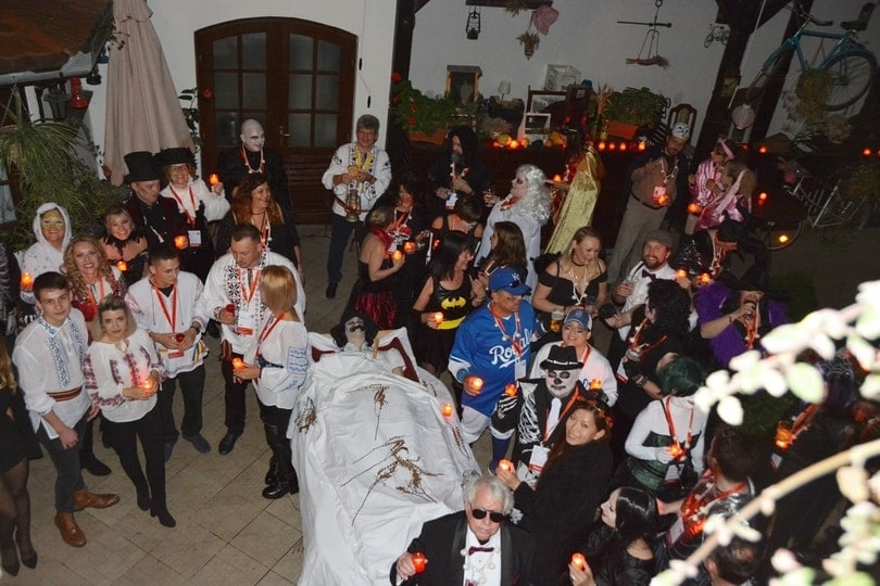 Halloween Party in Sighisoara Citadel, Romania private tour, Halloween at Dracula's Castle
