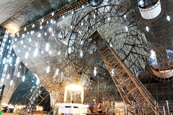 Turda Salt Mine seen in Dracula tours and Best of Romania tours-Transylvania skiing vacation