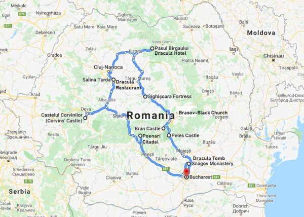 dracula tour from bucharest itinerary