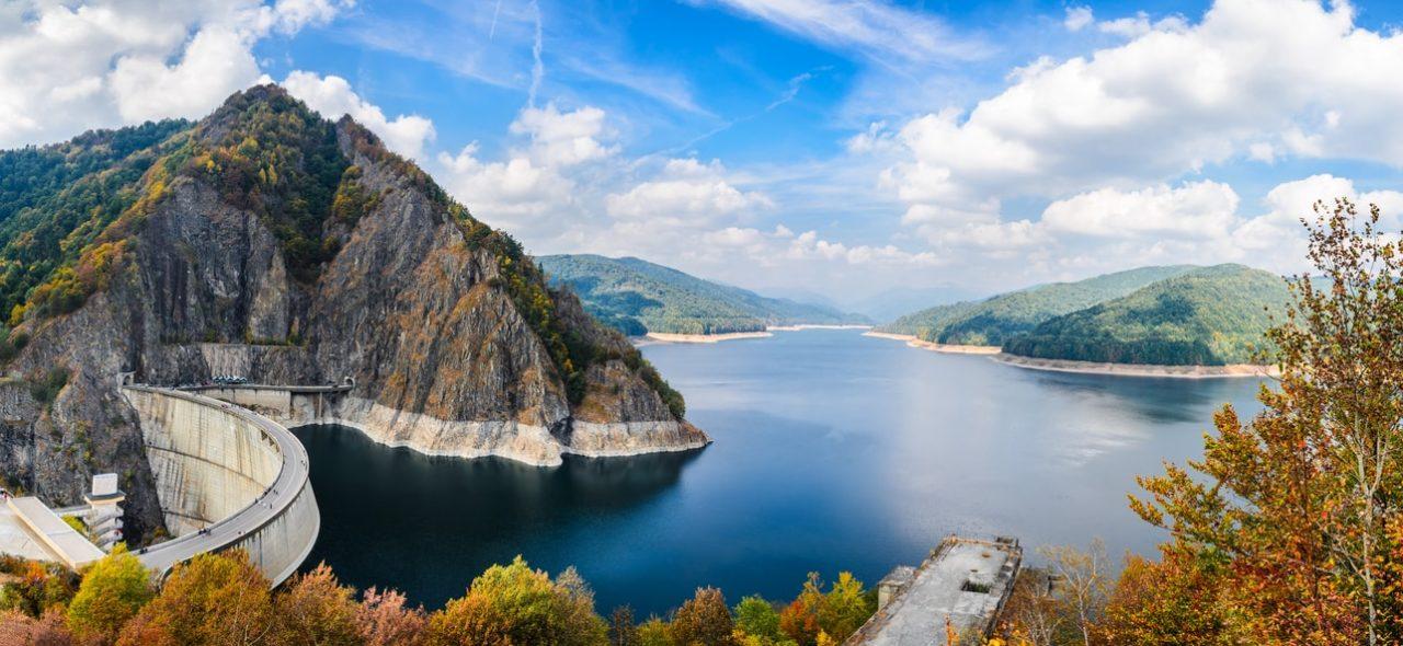 Vidraru Lake seen in Vampire in Transylvania Dracula tour and Best of Romania tours