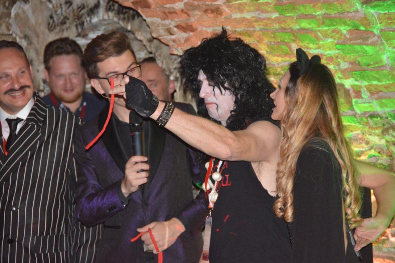 The best Halloween party in Transylvania, Sighisoara Citadel Romania -Australian tourists