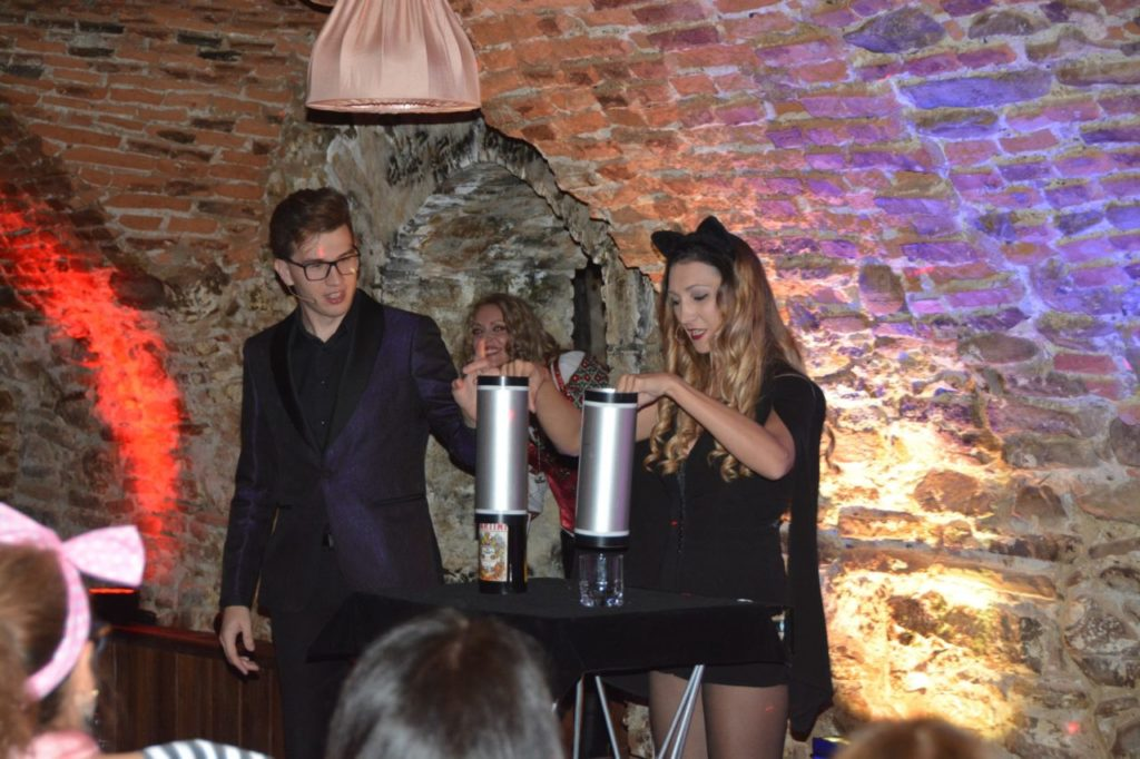 Magicians Show at the best Halloween party in Transylvania, Sighisoara Citadel Romania